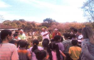 Fonte: Registro fotográfico na escola Municipal do Campo Grande – Município de Campanha, projeto fossas Ecológicas em Escolas, 2017.